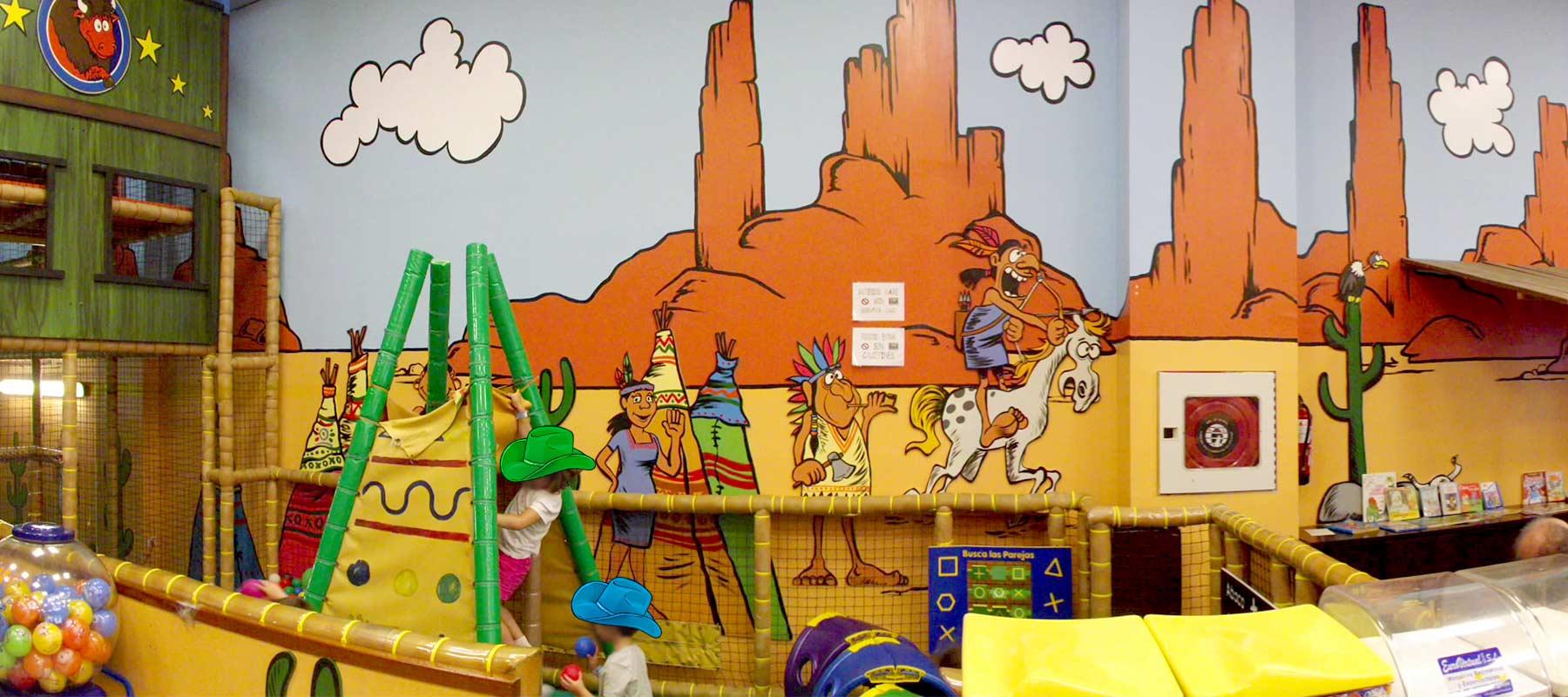 Territorio Dakota parque infantil para cumpleaños, txikipark